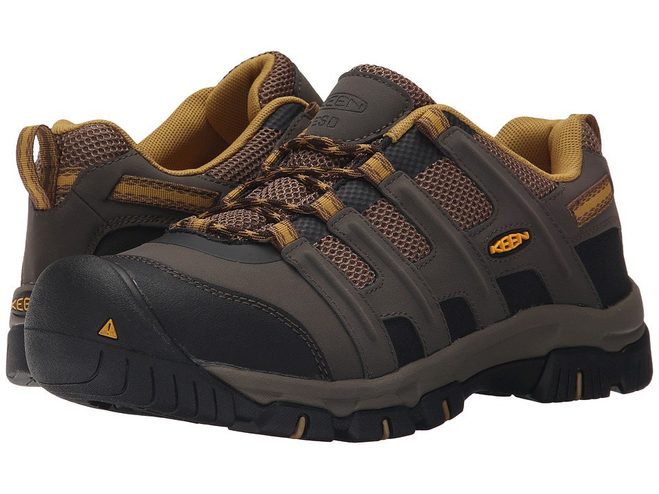 Keen Utility - Omaha Low ESD Soft Toe (Black Olive/Bronze Mist) Men's Industrial Shoes