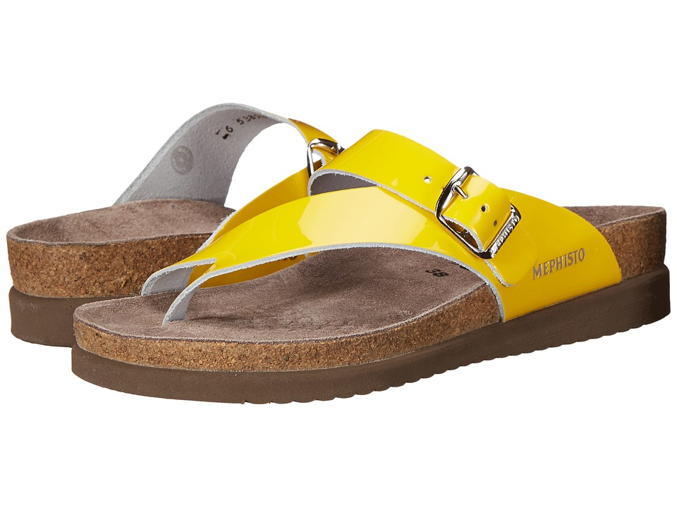 Mephisto - Helen (Yellow Patent) Women's Sandals
