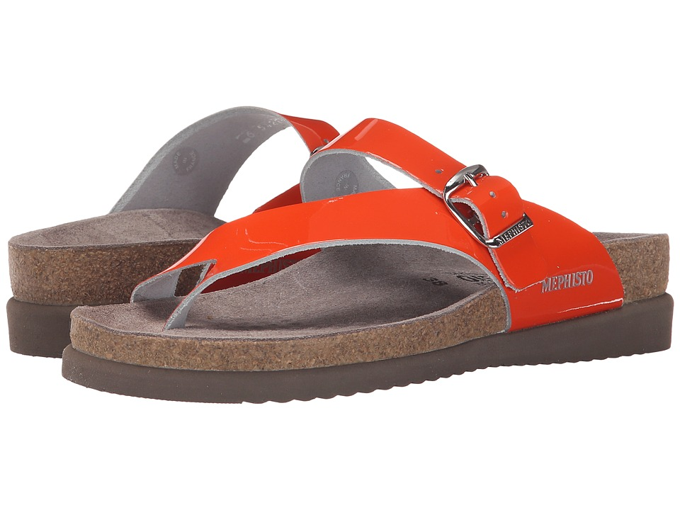 Mephisto - Helen (Orange Patent) Women's Sandals