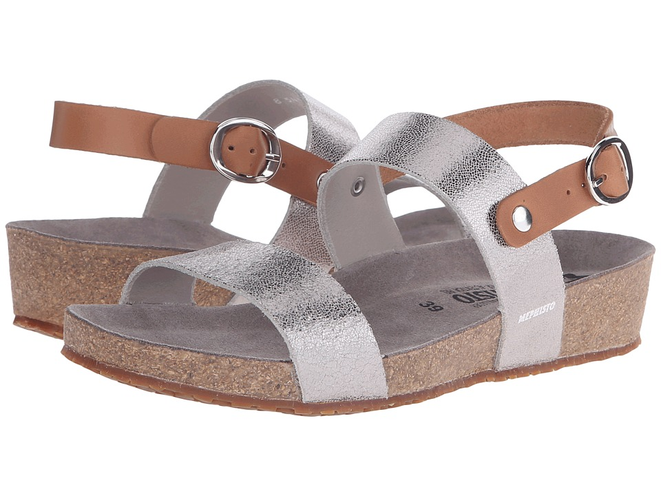 Mephisto - Italia (Silver Venise/Camel Waxy) Women's Sandals