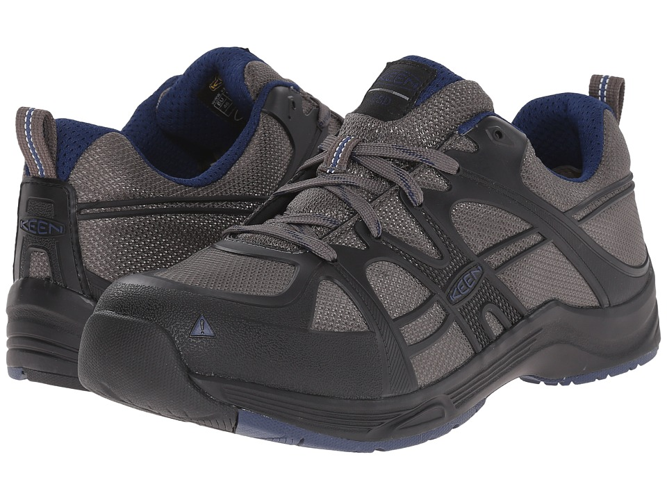 Keen Utility - Durham ESD Soft Toe (Gargoyle/Estate Blue) Men's Industrial Shoes