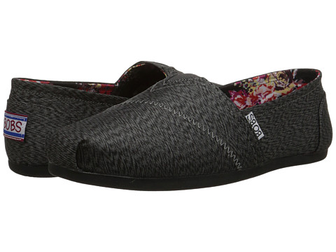 BOBS from SKECHERS - Plush - Kaleido (Charcoal) Women's Slip on Shoes