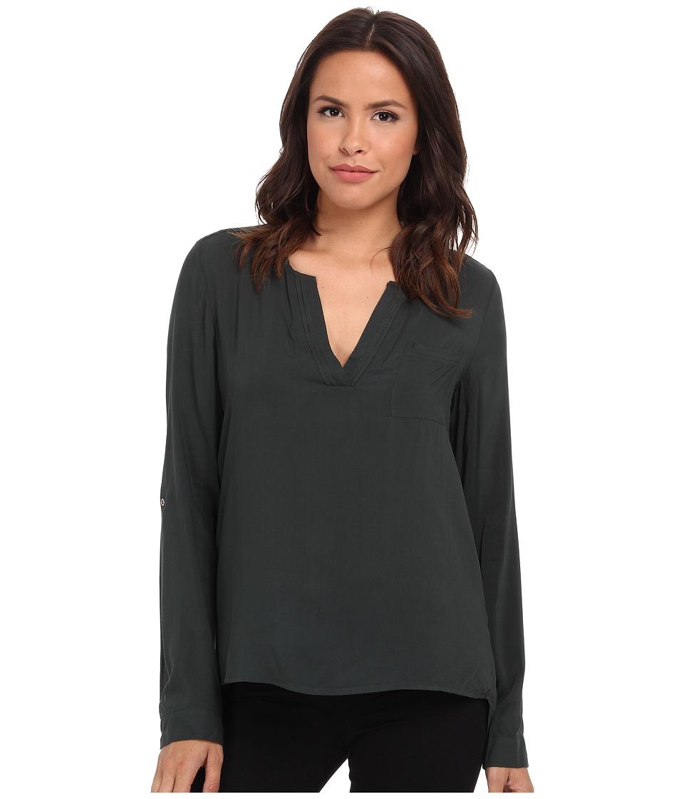 Mavi Jeans - Long Sleeve Blouse (Wander Green) Women's Blouse