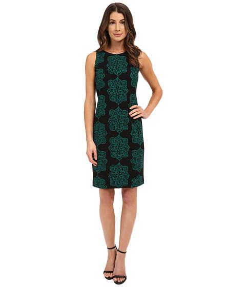 Nine West - Sleeveless Shift Dress with Dart Detail (Gem Combo) Women's Dress