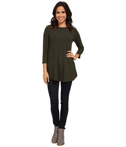 Bobeau - Brushed Babydoll Hemline Knit (Dark Green) Women's Clothing