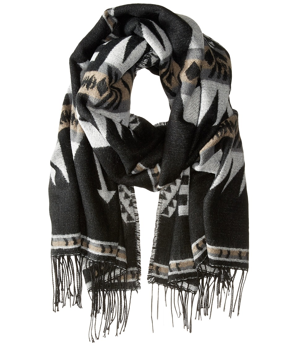 Steve Madden - Montana Ethnic Blanket Wrap (Neutral) Scarves