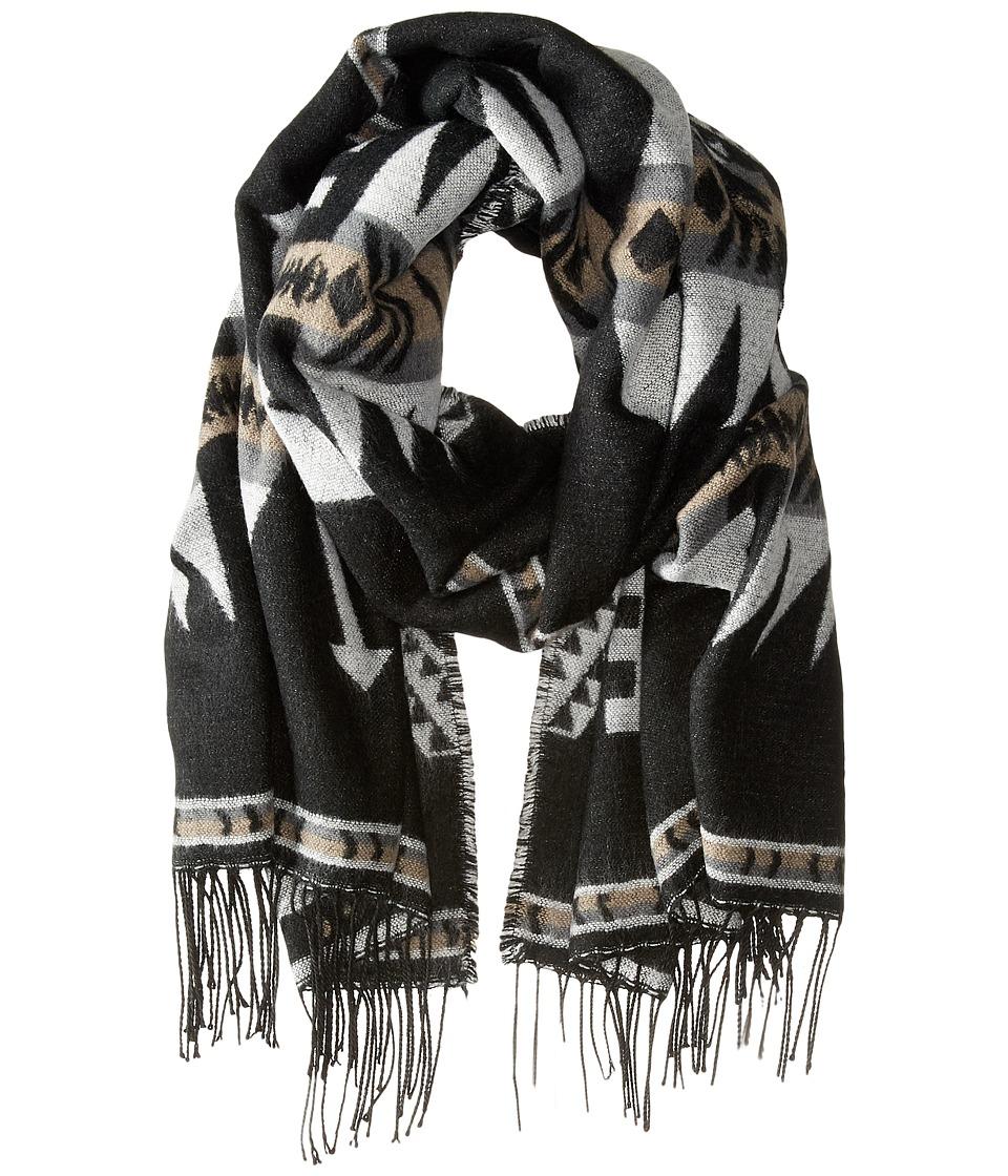 Steve Madden - Montana Ethnic Blanket Wrap (Neutral) Scarves