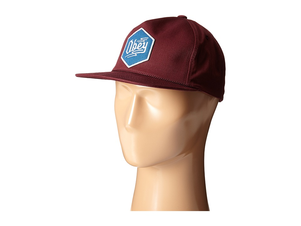 Obey - Zig Snapback (Maroon) Caps
