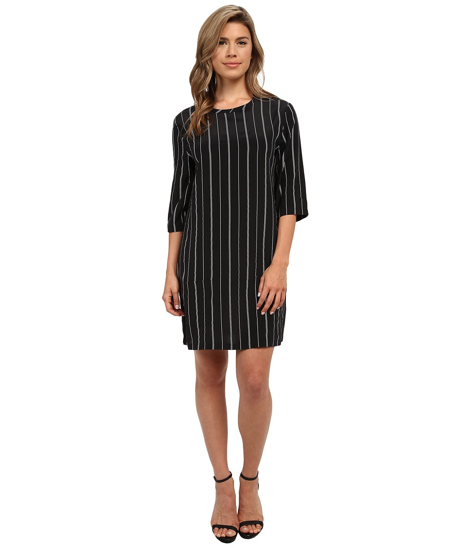 EQUIPMENT - Aubrey Dress (True Black/Marshmallow) Women's Dress