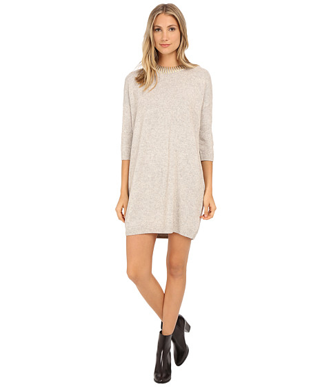 French Connection - Ruby Knits Sweater Dress 71EFV (Oatmeal Melange/Pale Gold Foil) Women
