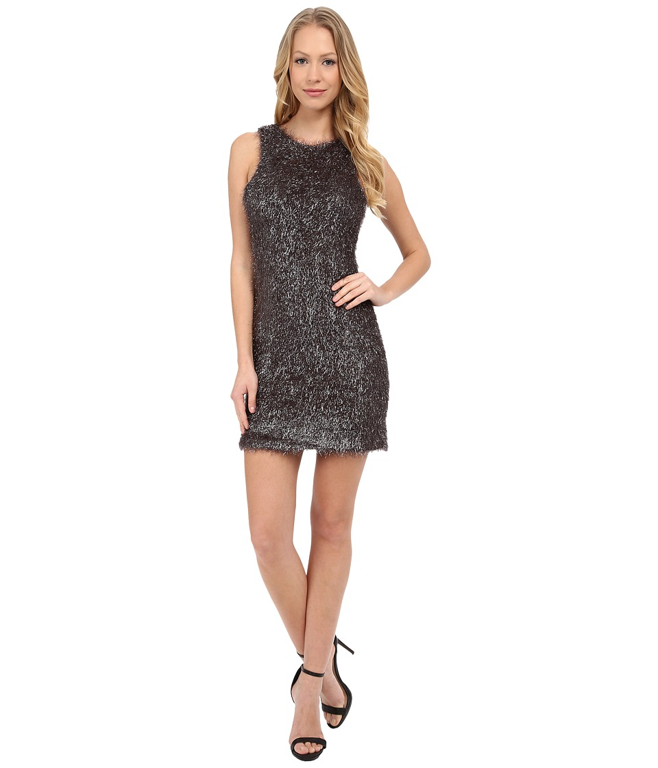 French Connection - Tinsel Treat Dress (Silver) Women's Dress