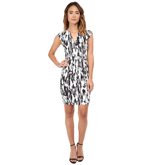French Connection - Record Ripple Dress (Black Multi) Women's Dress
