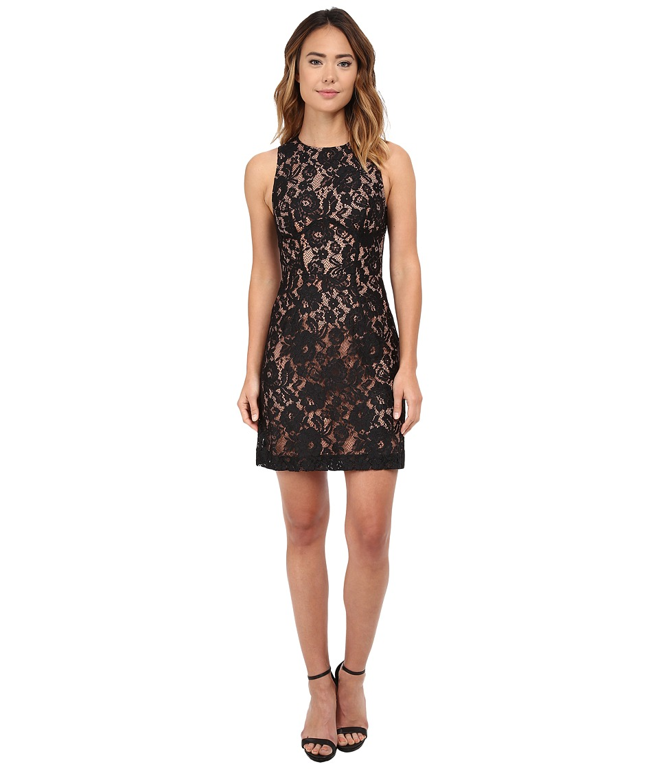French Connection - Heartbreaker Lace Dress (Black/Nude) Women's Dress