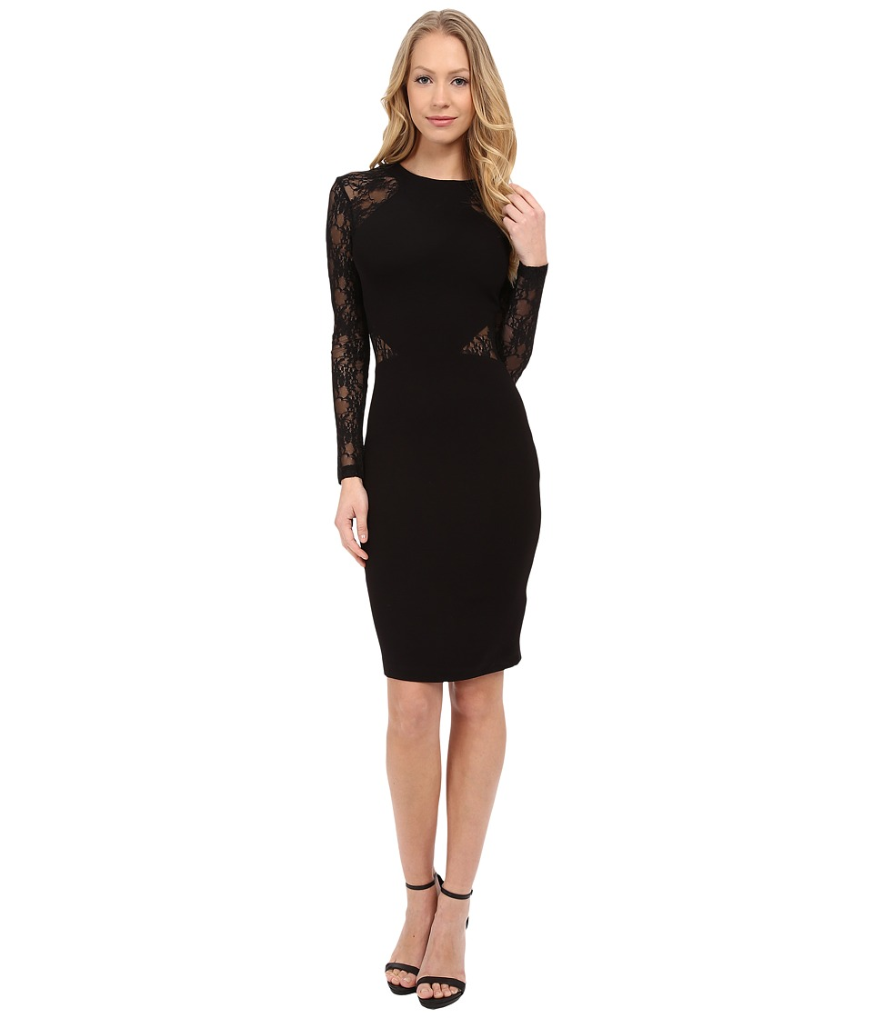 French Connection - Viven Lace Dress (Black) Women's Dress