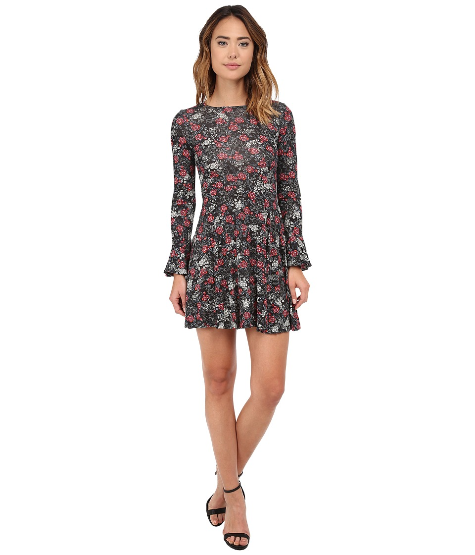 French Connection - Midnight Rose Jersey Dress (Black Multi) Women