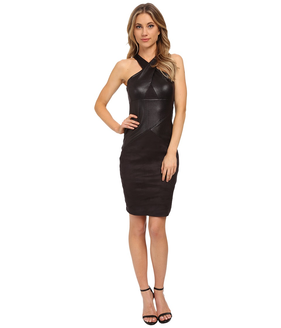 Hale Bob - Hide and Chic Halter Dress (Black) Women