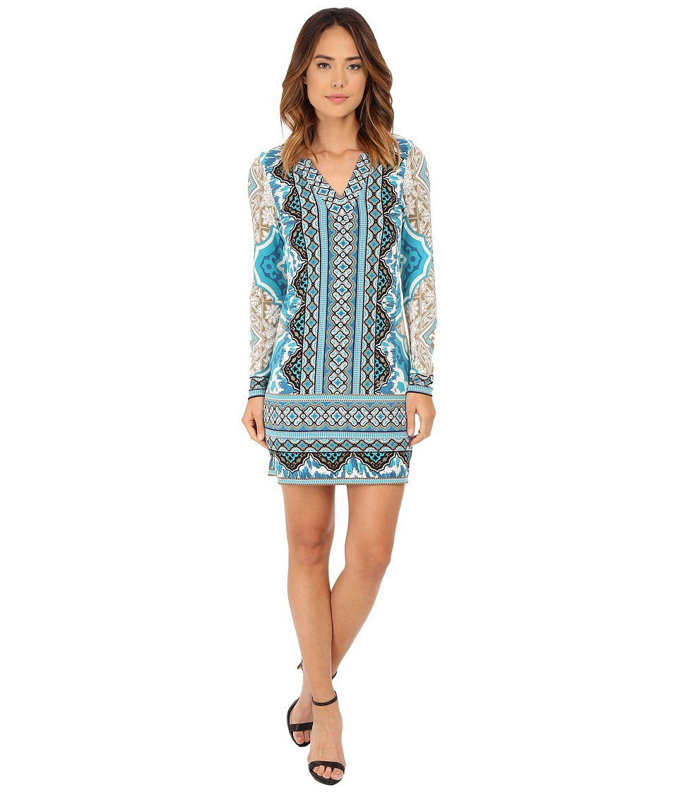 Hale Bob - Moroccan Melodies Signature Dress (Teal) Women's Dress