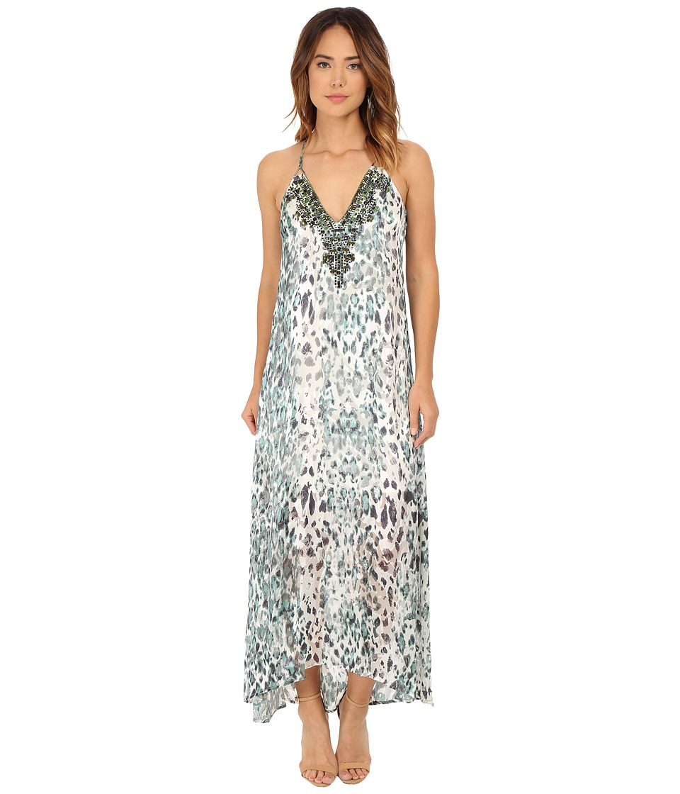 Hale Bob - Sheer Obsession Maxi Dress (Mint) Women's Dress