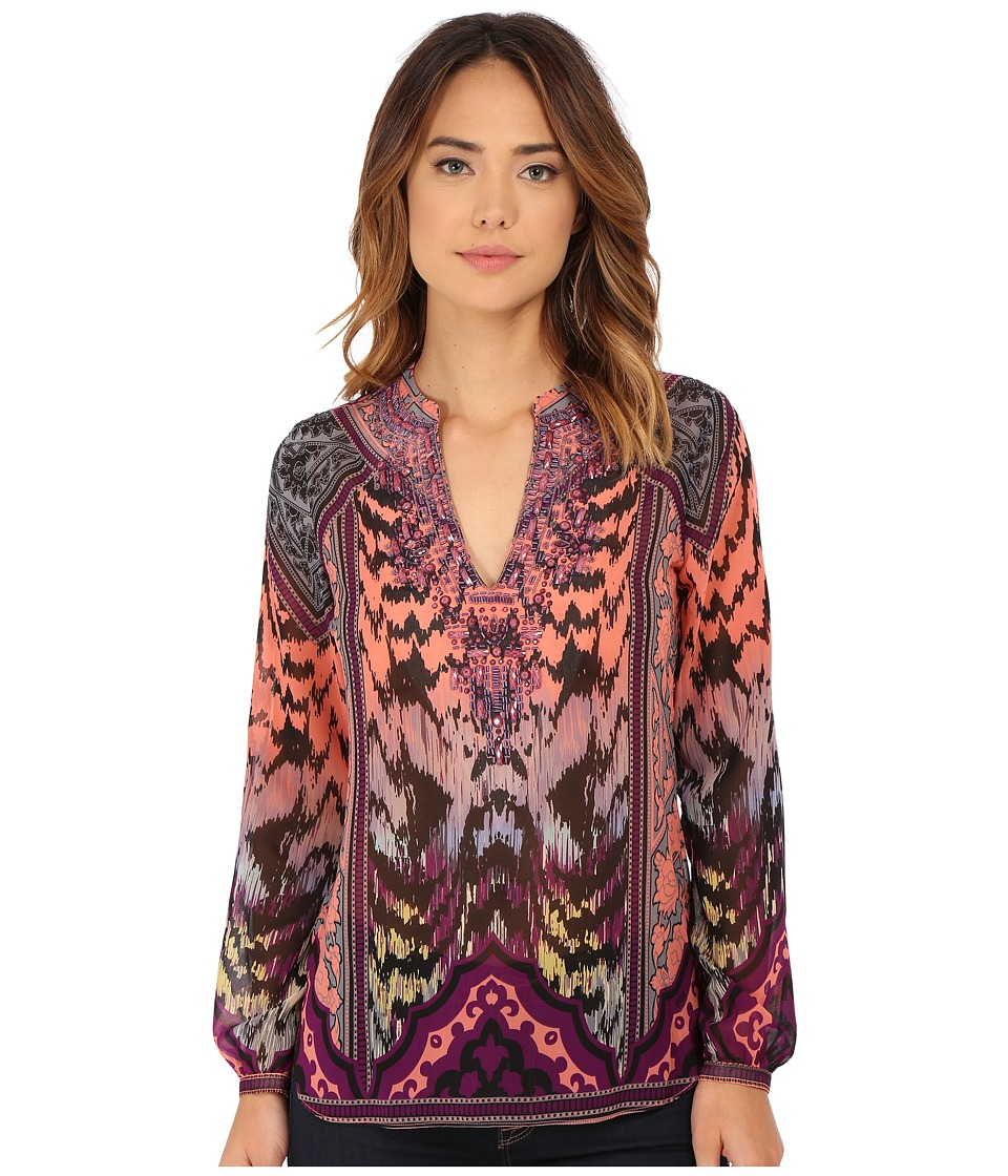 Hale Bob - Moroccan Melodies Hand Beaded Blouse (Purple) Women's Blouse
