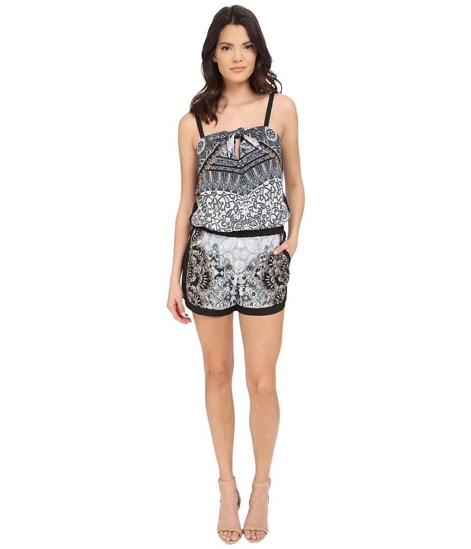 Hale Bob - Salsa on the Beach Romper (Grey) Women's Jumpsuit & Rompers One Piece