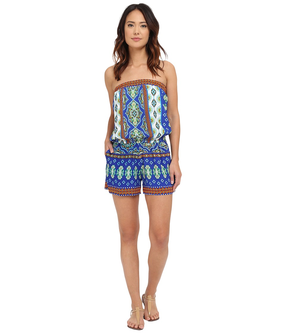 Hale Bob - Mojitos After Dark Romper (Blue) Women's Jumpsuit & Rompers One Piece