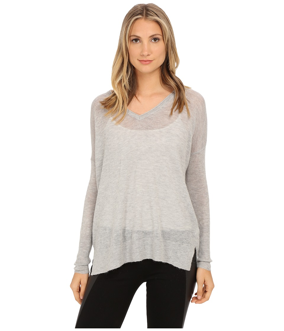 French Connection - Feather Light Knits Sweater 78ECJ (Light Grey Melange) Women