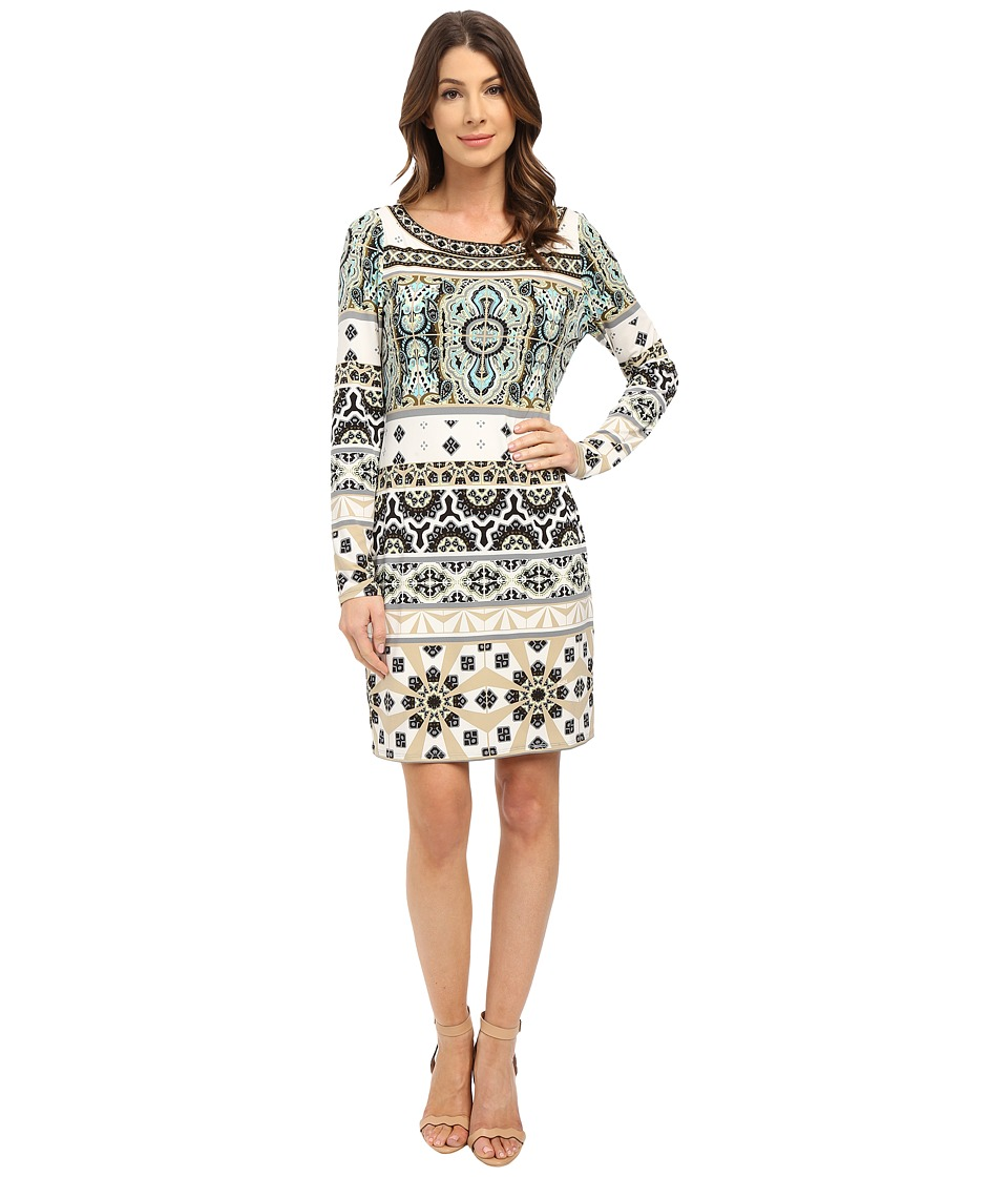 Hale Bob - Festive Fiesta Long Sleeve Dress (Ivory) Women's Dress