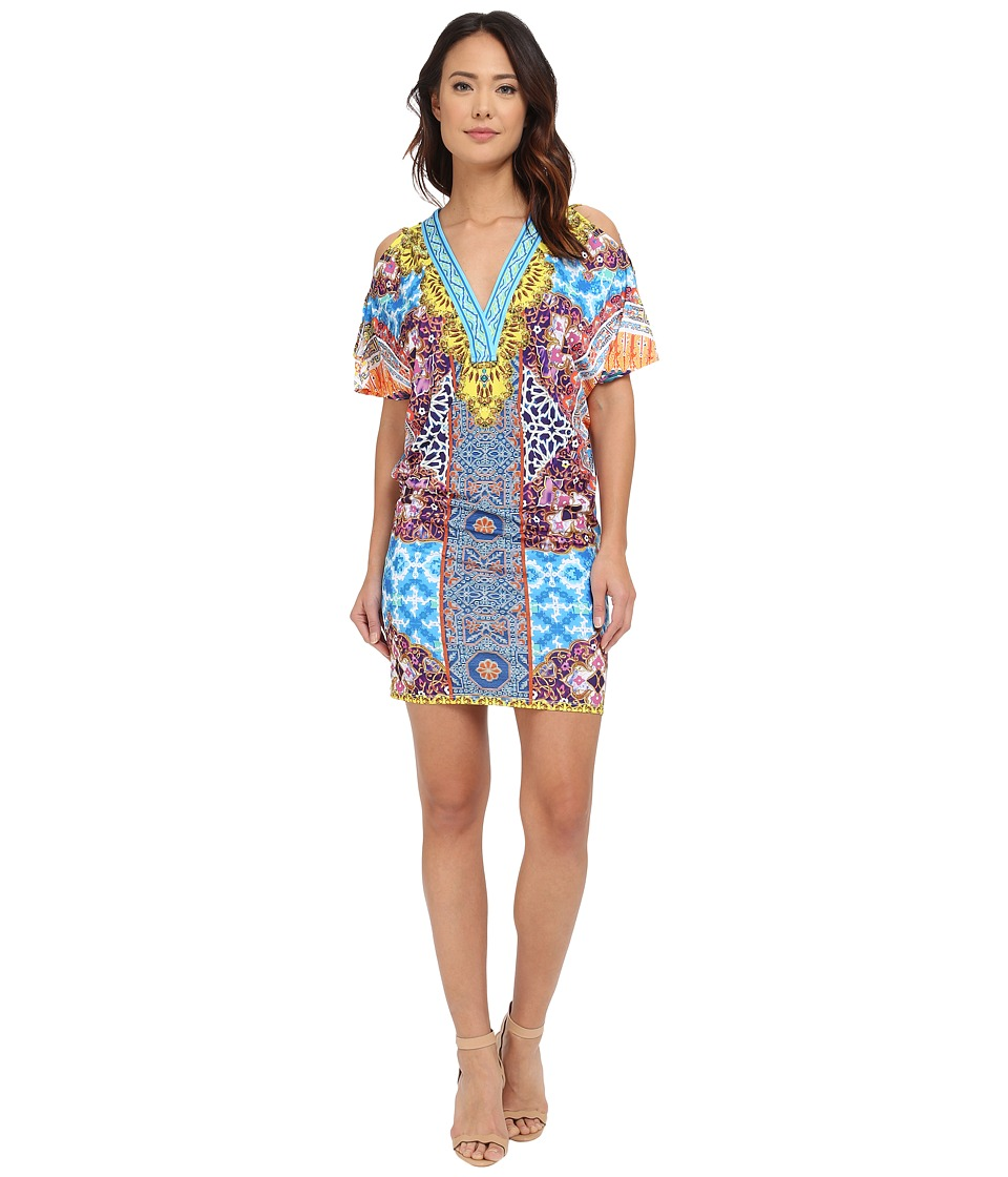 Hale Bob Salsa on the Beach Cold Shoulder Dress
