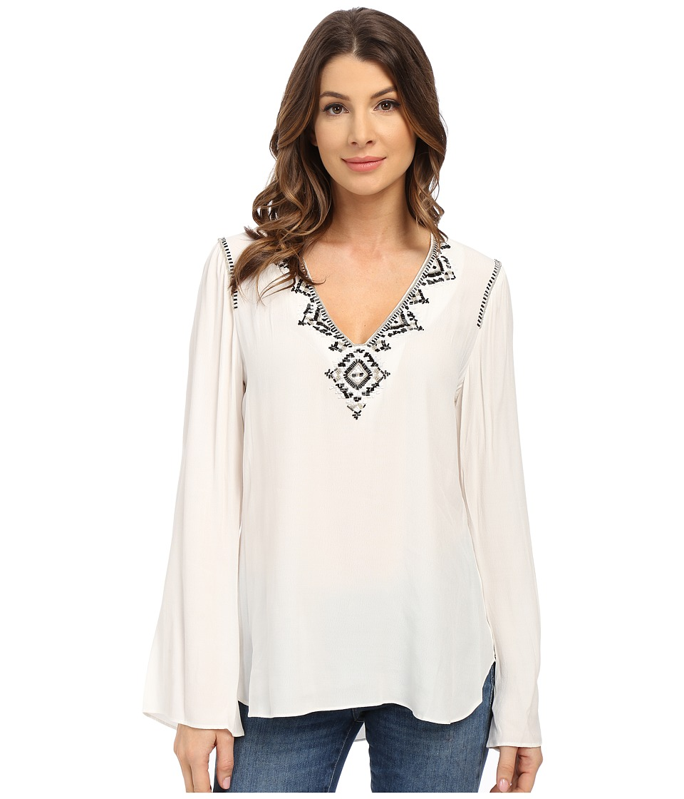 Hale Bob - Hot Heavy in Havana Hand Beaded Blouse (Ivory) Women's Blouse