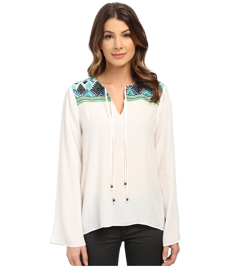 Hale Bob - Hot Heavy In Havana Embroidered Blouse (Ivory) Women's Blouse