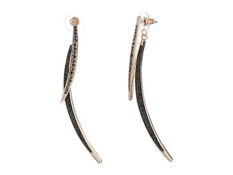 GUESS - Double Stick Linear Earrings (Rose Gold/Hematite) Earring