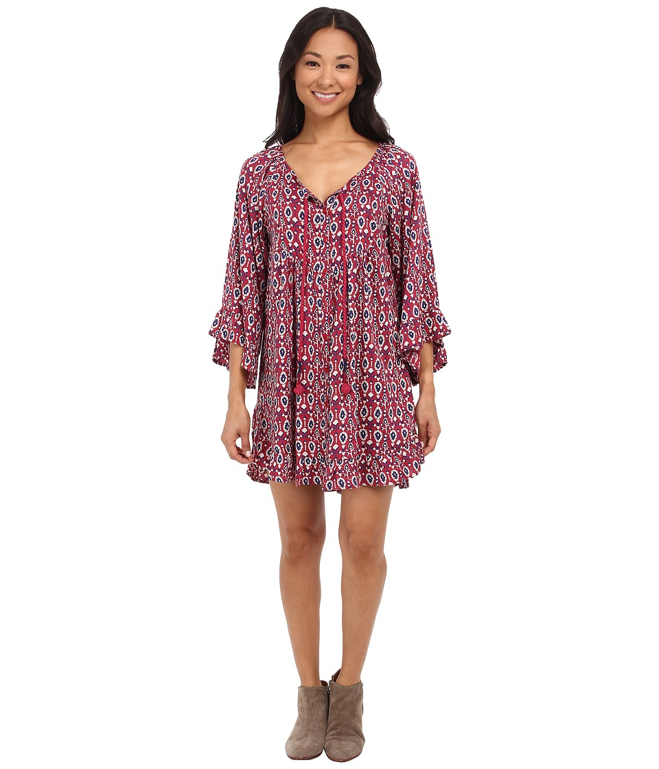 Roxy - Blackbird Dress (Red Bud Paisley Dits) Women's Dress