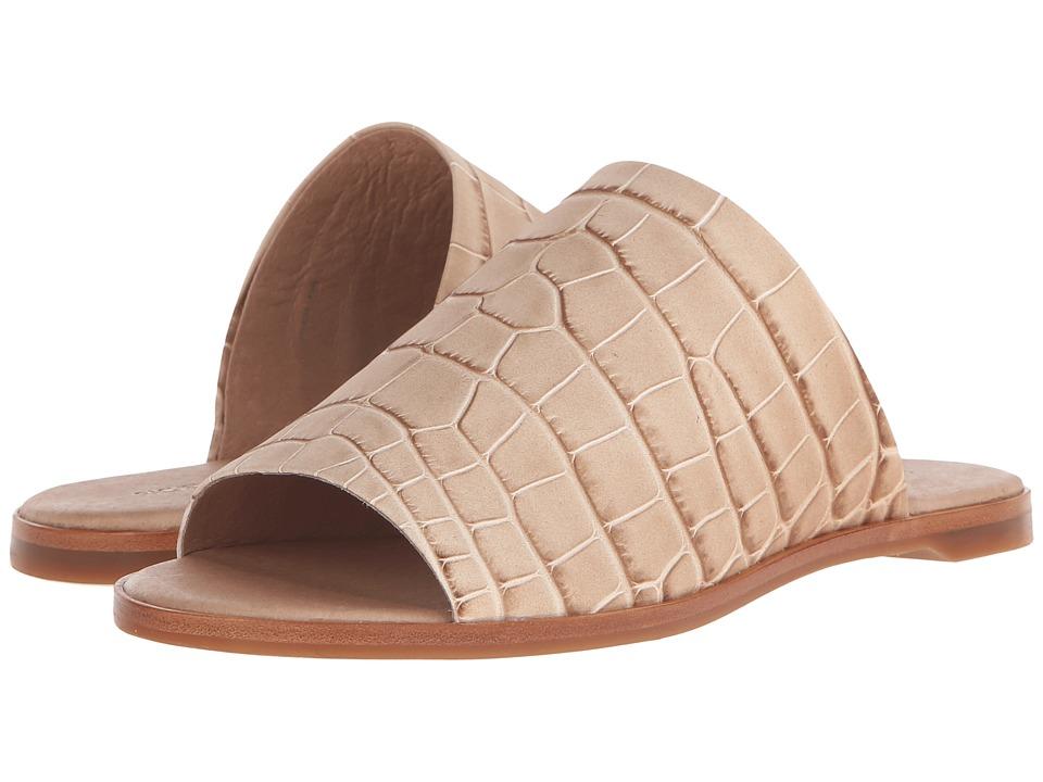 Rachel Zoe - Belcaro (Natural Nubuck Croc Emboss) Women's Slide Shoes