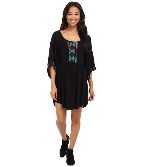 Roxy - Sunset City 2 J Woven Dress (True Black) Women's Dress