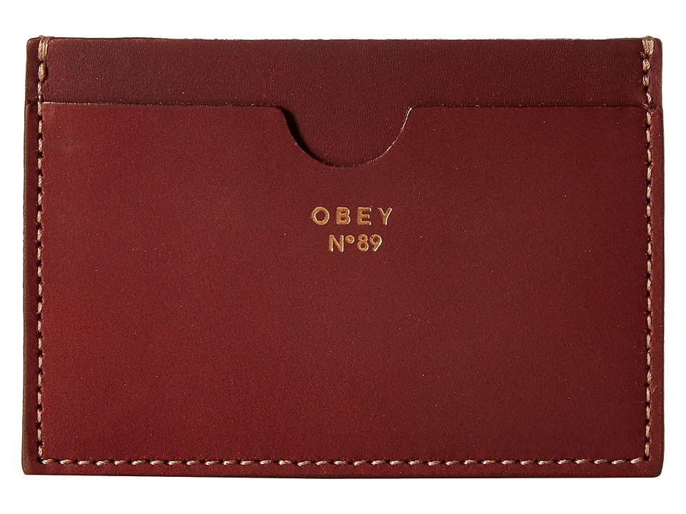 Obey - Newbury Card Case II (Oxblood) Wallet