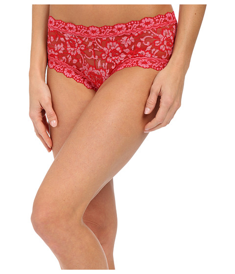 Hanky Panky - Cross Dye Signature Lace Boyshort (Red/Lipgloss) Women's Underwear