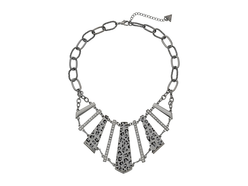 GUESS - Buckle ID Collar Necklace (Hematite/Crystal) Necklace