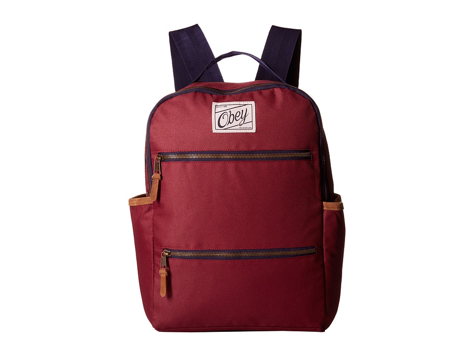 Obey - Bad Lands Backpack (Burgundy) Backpack Bags