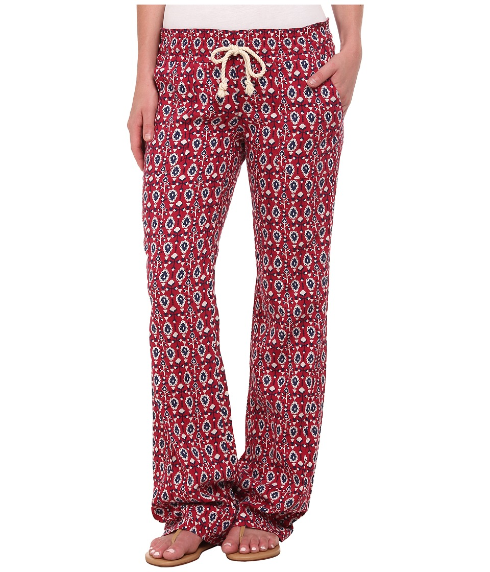 Roxy - Ocean Side Print Pant (Red Bud Paisley Dits) Women's Casual Pants