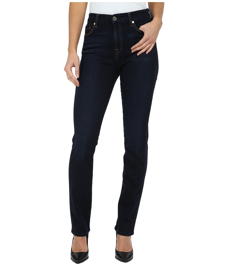 7 For All Mankind - High Waist Vintage Straight in Slim Illusion Dark Madrid Night (Slim Illusion Dark Madrid Night) Women's Jeans