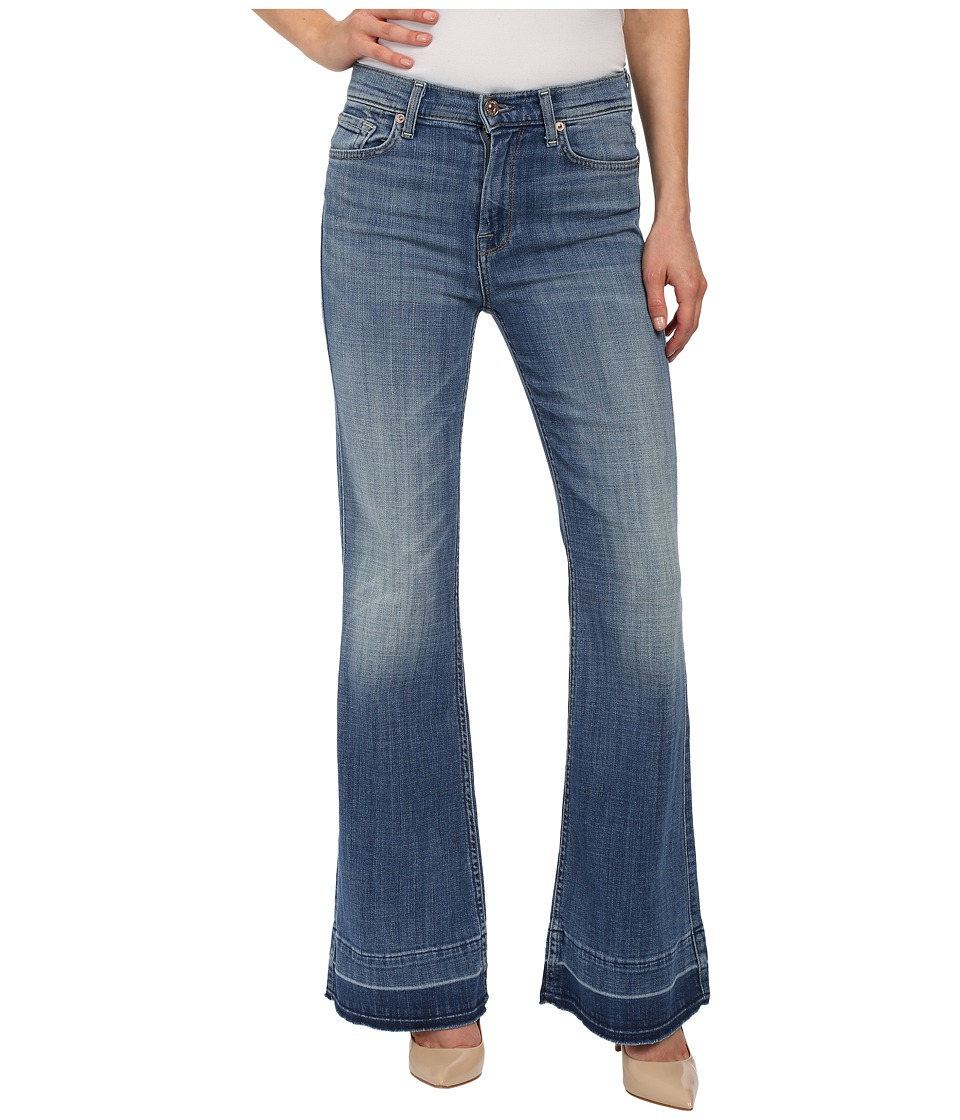 7 For All Mankind Tailorless Ginger in Bright Light Broken Twill 2 (Bright Light Broken Twill 2) Women