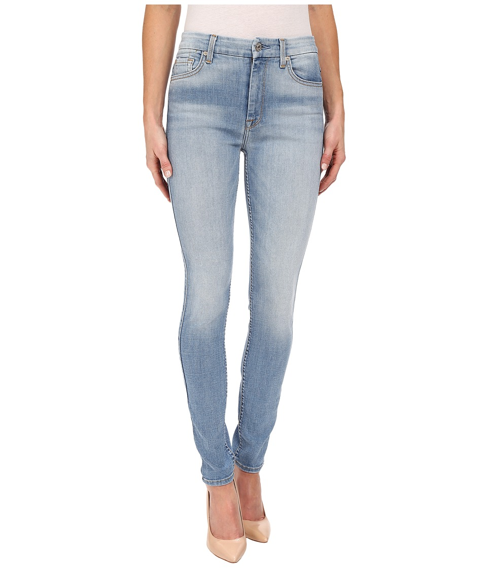 7 For All Mankind - The High Waist Skinny in Mediterranean Sky (Mediterranean Sky) Women