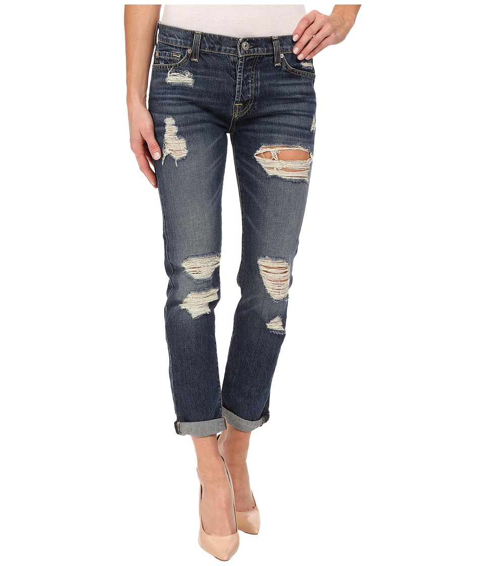 7 For All Mankind - Josefina w/ Aggressive Destroy in Rigid Sanded Blue (Rigid Sanded Blue) Women's Jeans