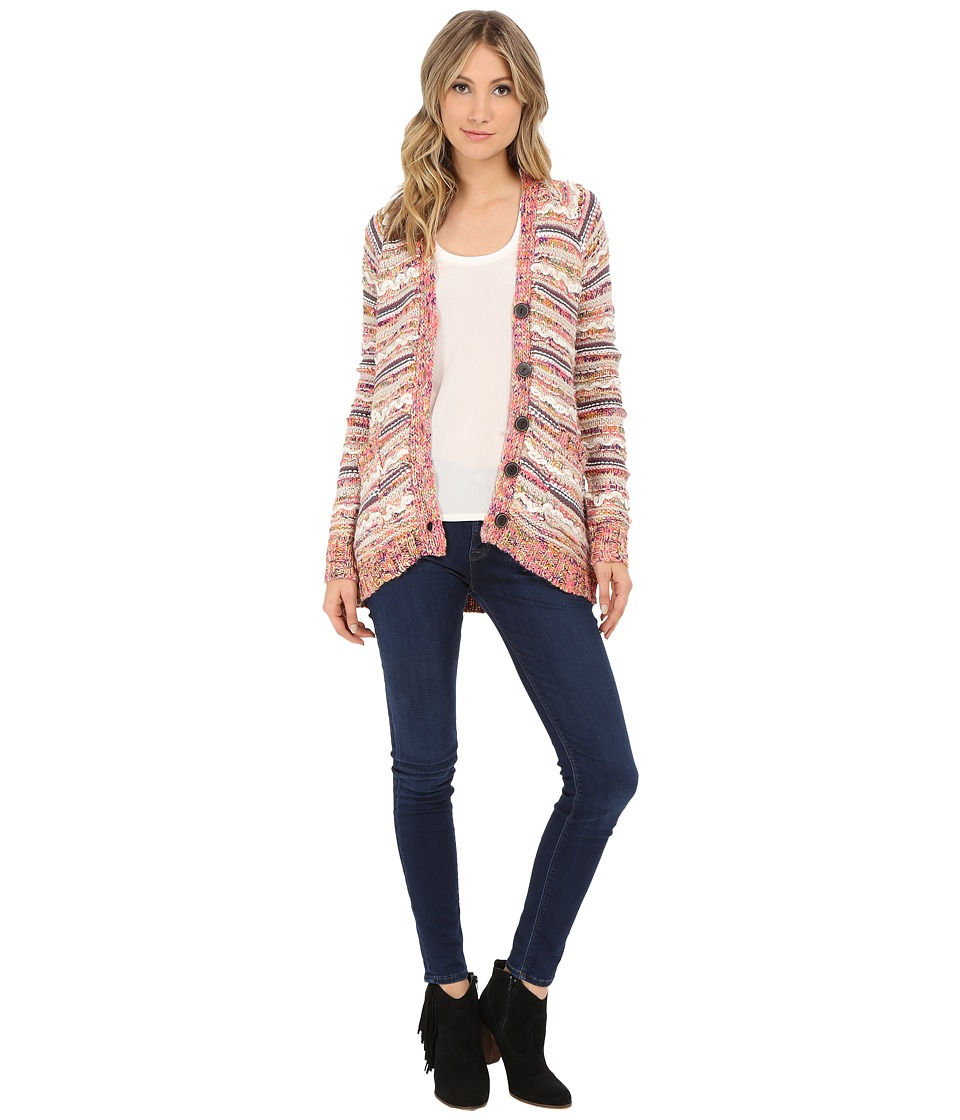 Chaser - Easy Open Cardigan Sweater (Pink Sweater Knit) Women