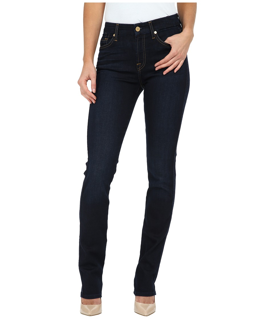 7 For All Mankind - Kimmie Straight in Slim Illusion Dark Madrid Night (Slim Illusion Dark Madrid Night) Women