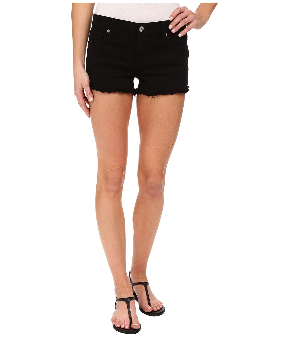 7 For All Mankind - Cut Off Shorts in Black (Black) Women's Shorts