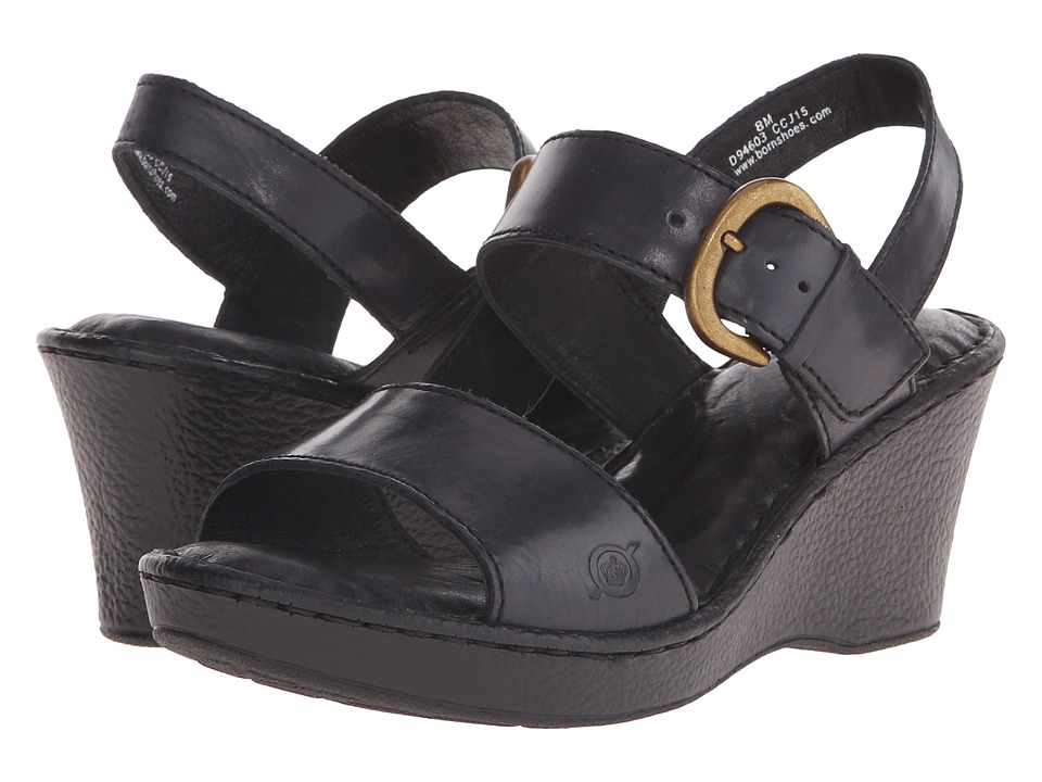 Born Claudia (Black Full Grain Leather) Women