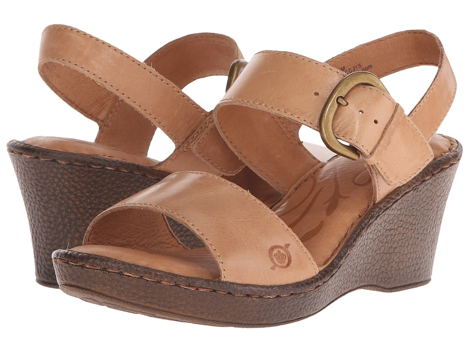Born Claudia (Natural Full Grain Leather) Women