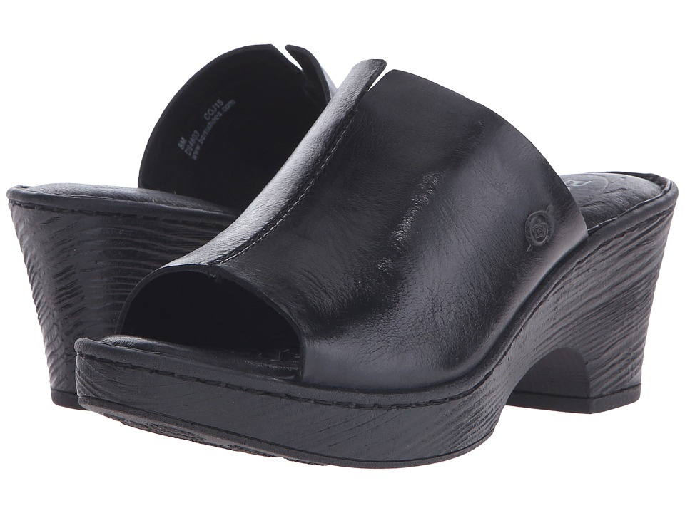 Born - Cembra (Black Full Grain Leather) Women's Wedge Shoes