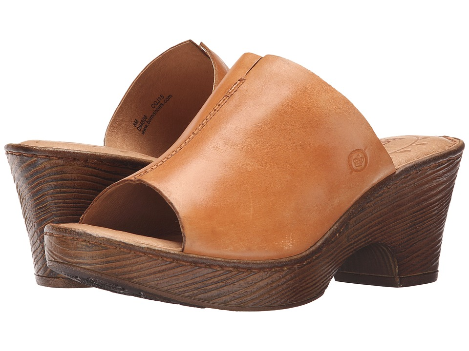 Born - Cembra (Nut Full Grain Leather) Women's Wedge Shoes